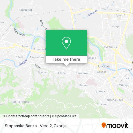 Stopanska Banka - Vero 2 map