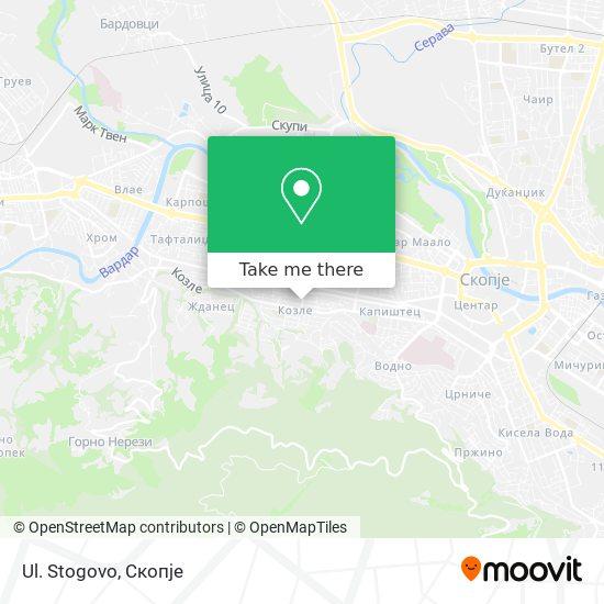 Ul. Stogovo map