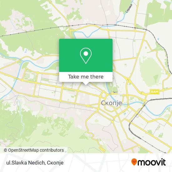 ul.Slavka Nedich map