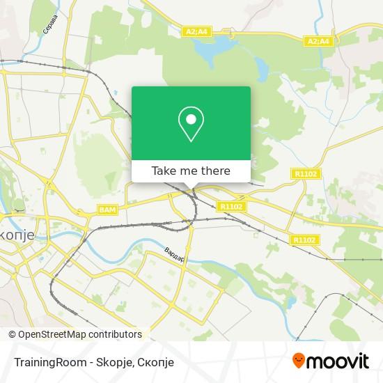 TrainingRoom - Skopje map