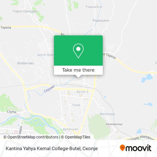Kantina Yahya Kemal College-Butel map