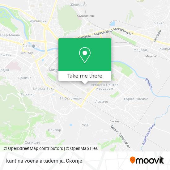 kantina voena akademija map