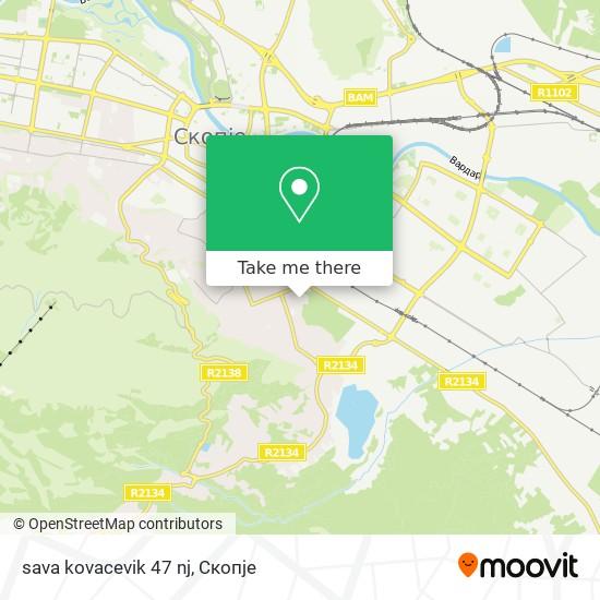 sava kovacevik 47 nj map