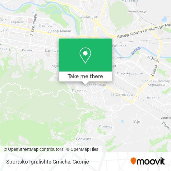 Sportsko Igralishte Crniche map