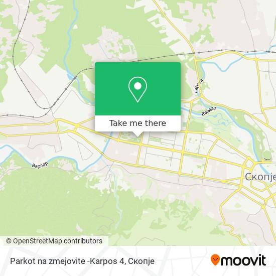 Parkot na zmejovite -Karpos 4 map