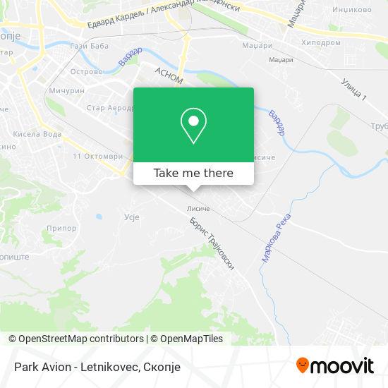 Park Avion - Letnikovec map