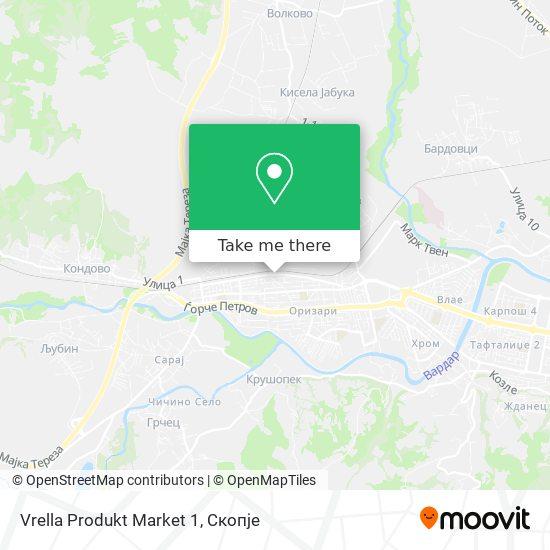 Vrella Produkt Market 1 map