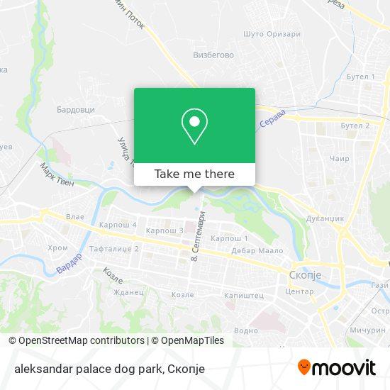 aleksandar palace dog park map