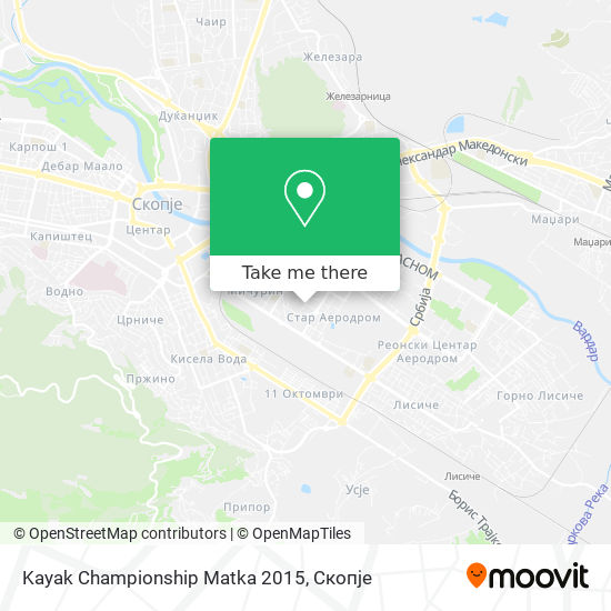 Kayak Championship Matka 2015 map