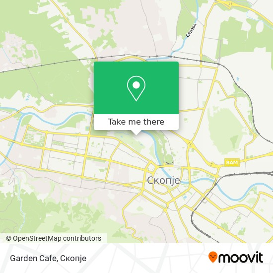Garden Cafe map