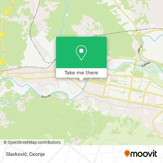 Slavkovič map