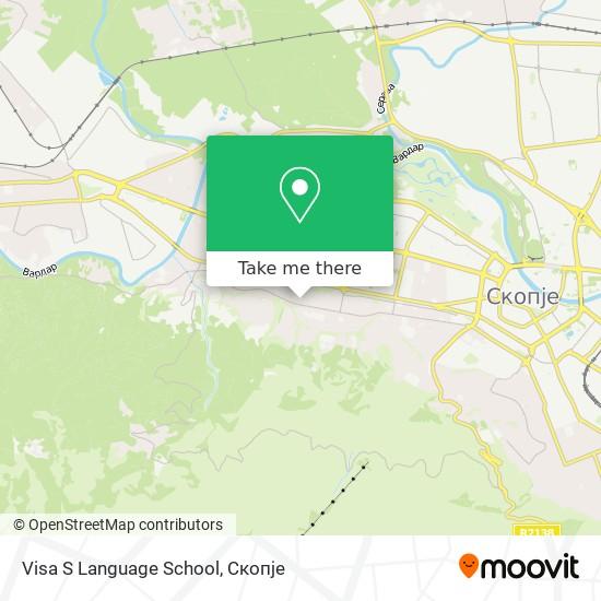 Visa S Language School map