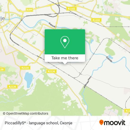 PiccadillyS* - language school map