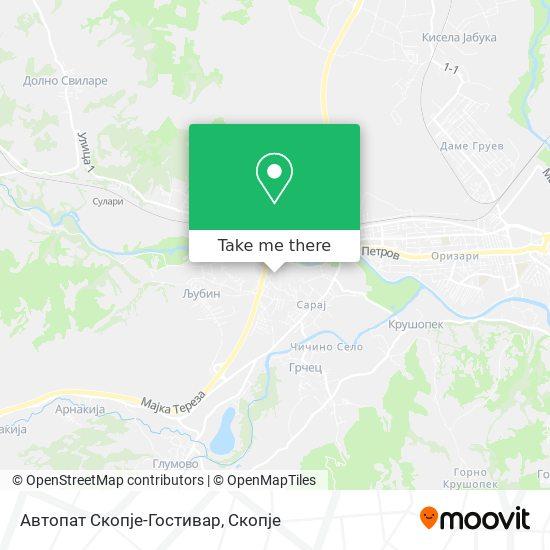 Автопат Скопје-Гостивар map