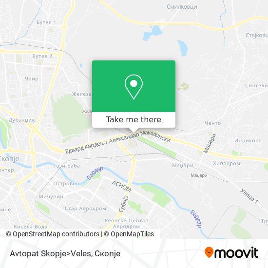 Avtopat Skopje>Veles map