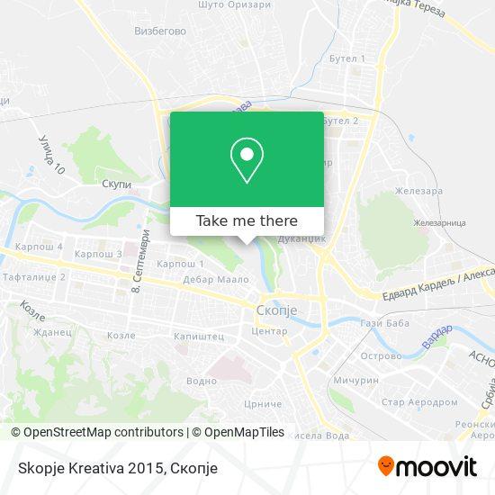 Skopje Kreativa 2015 map