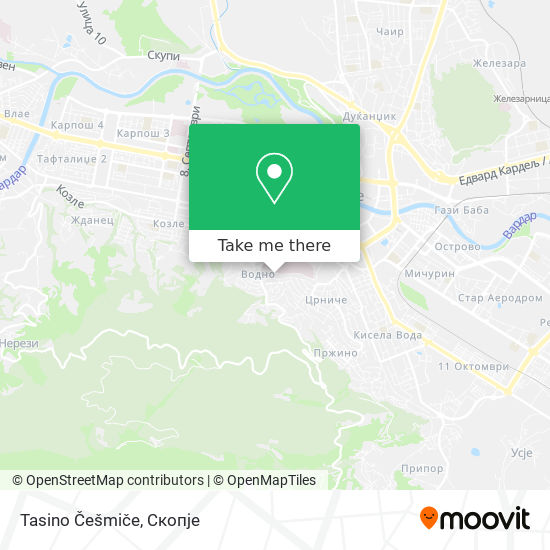 Tasino Češmiče map