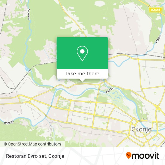 Restoran  Evro set map