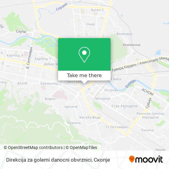 Direkcija za golemi danocni obvrznici map