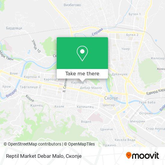 Reptil Market Debar Malo map