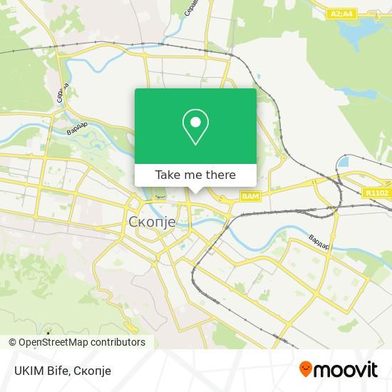 UKIM Bife map