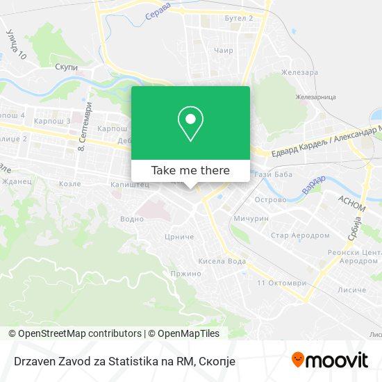 Drzaven Zavod za Statistika na RM map