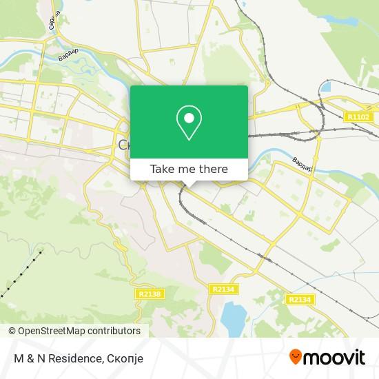 M & N Residence map