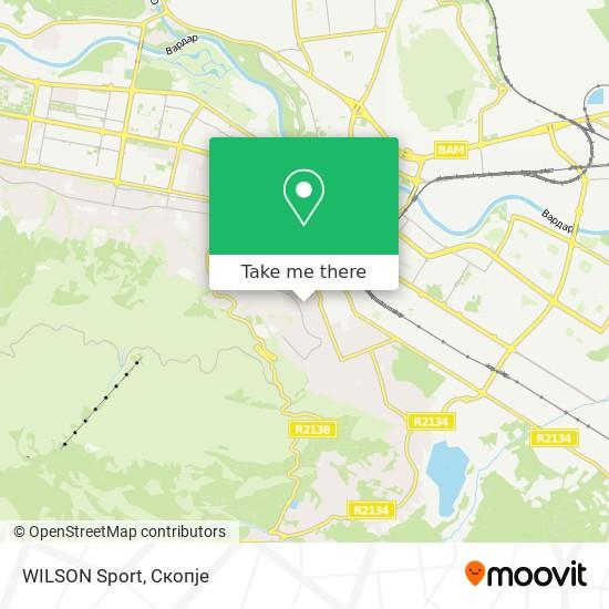 WILSON Sport map
