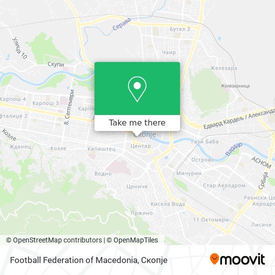 Football Federation of Macedonia map