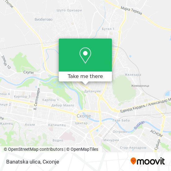 Banatska ulica map