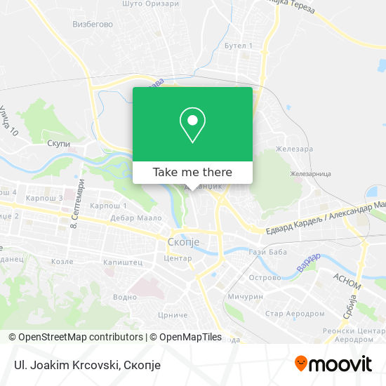 Ul. Joakim Krcovski map