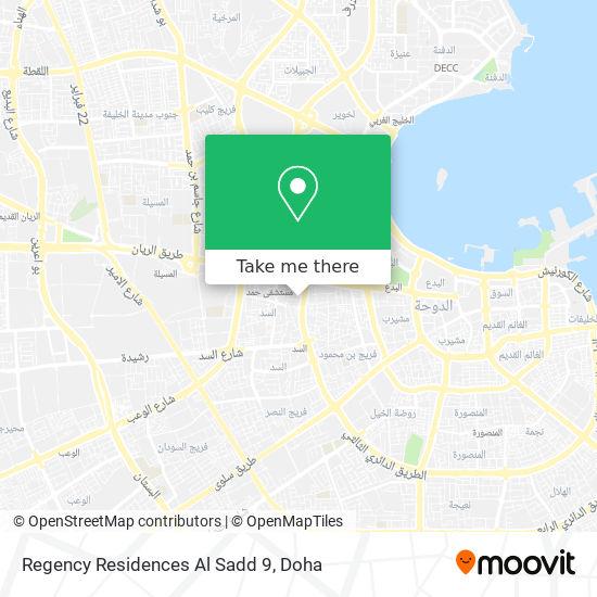 Regency Residences Al Sadd 9 map