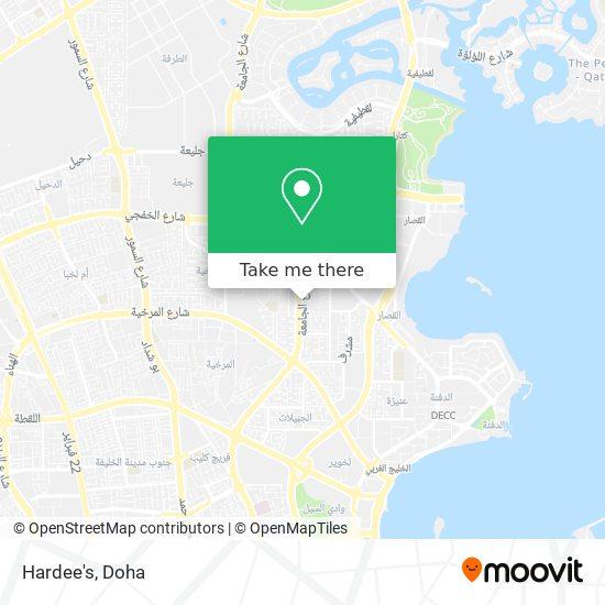 Hardee's map