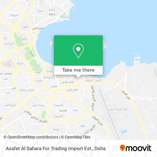Asafet Al Sahara For Trading Import Est. map