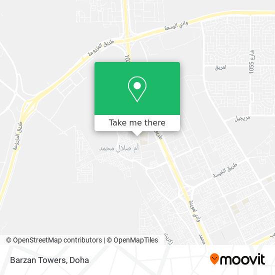 Barzan Towers map
