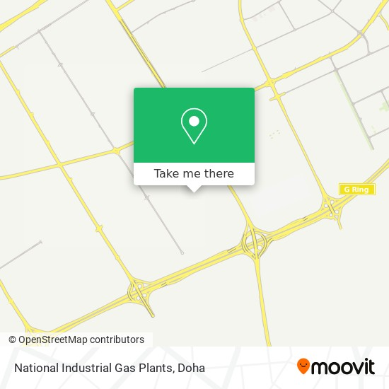 National Industrial Gas Plants map