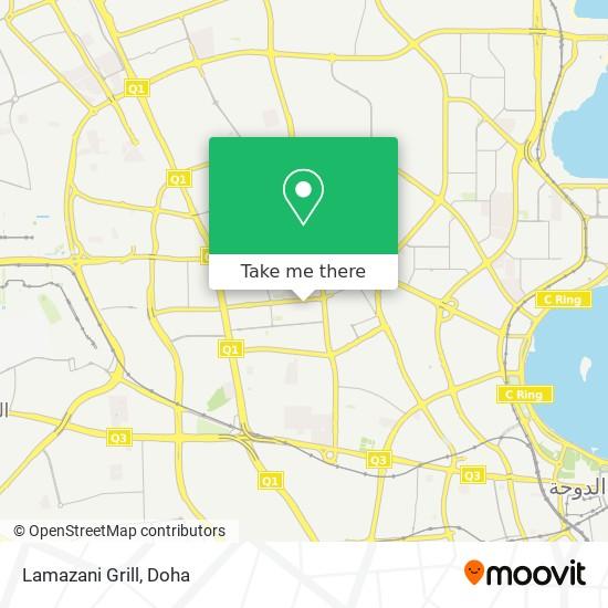 Lamazani Grill map