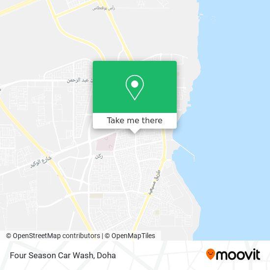 Four Season Car Wash map