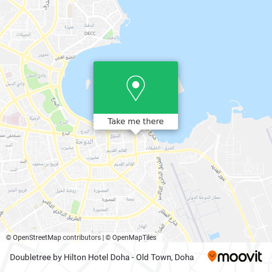 Doubletree by Hilton Hotel Doha - Old Town map