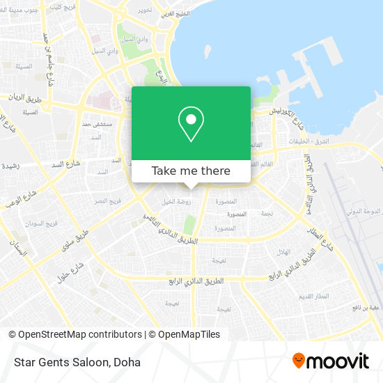 Star Gents Saloon map