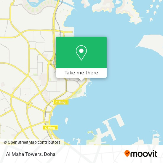 Al Maha Towers map