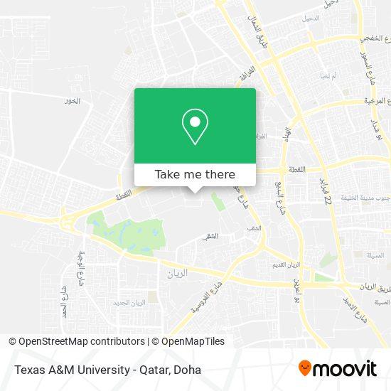 Texas A&M University - Qatar map