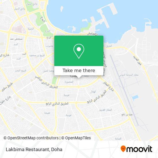 Lakbima Restaurant map