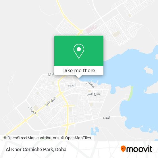 Al Khor Corniche Park map