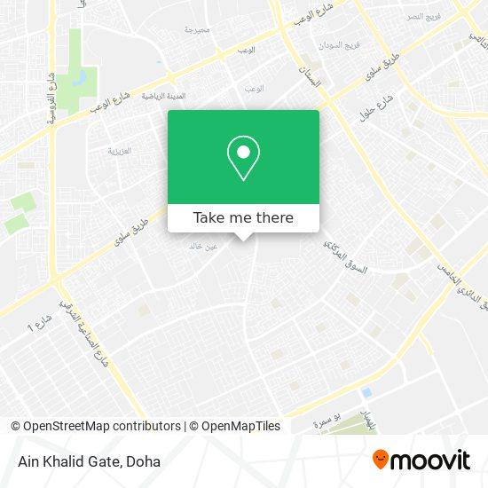 Ain Khalid Gate map