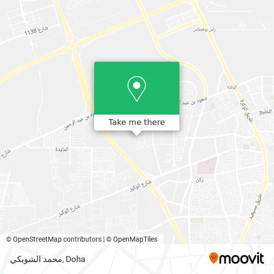 محمد الشوبكي map