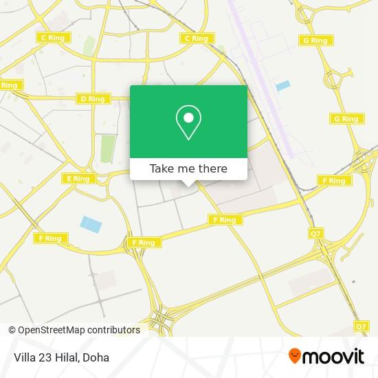 Villa 23 Hilal map
