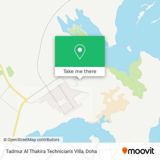 Tadmur Al Thakira Technician's Villa map