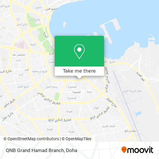 QNB Grand Hamad Branch map
