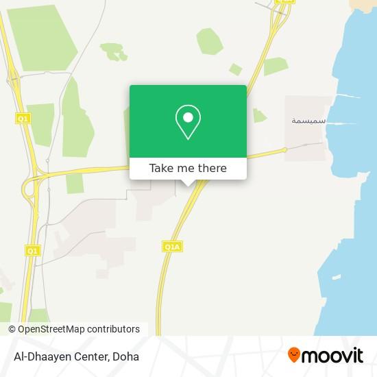 Al-Dhaayen Center map